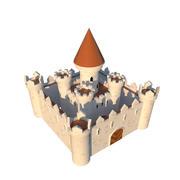 幻想卡通城堡 3d model
