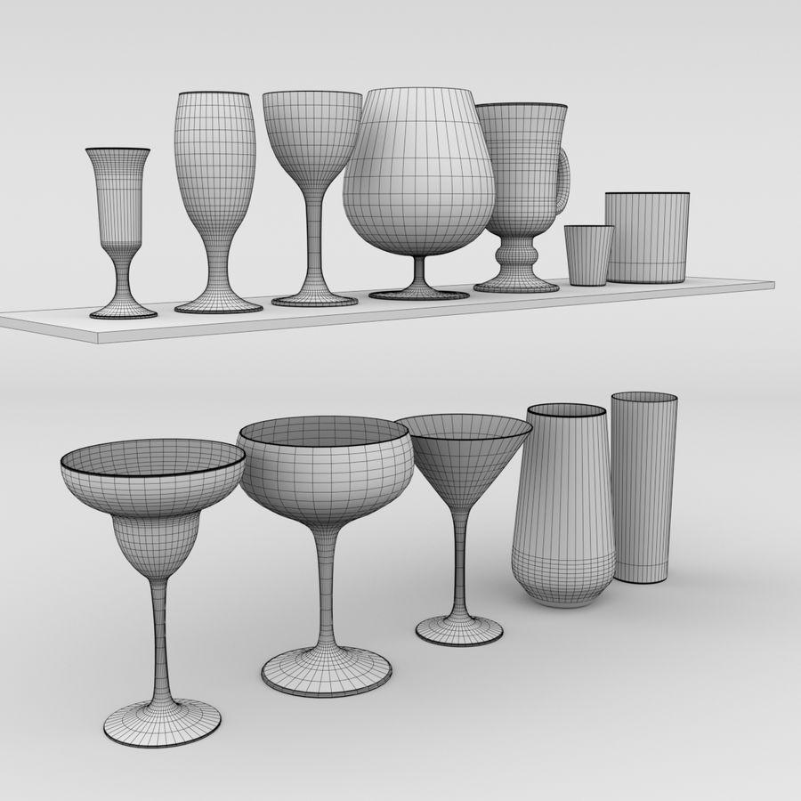 İçki bardağı seti royalty-free 3d model - Preview no. 6