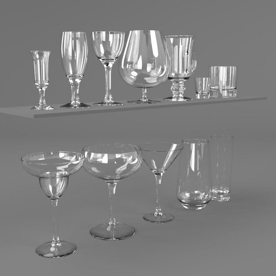 İçki bardağı seti royalty-free 3d model - Preview no. 3