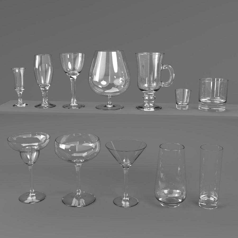 İçki bardağı seti royalty-free 3d model - Preview no. 1