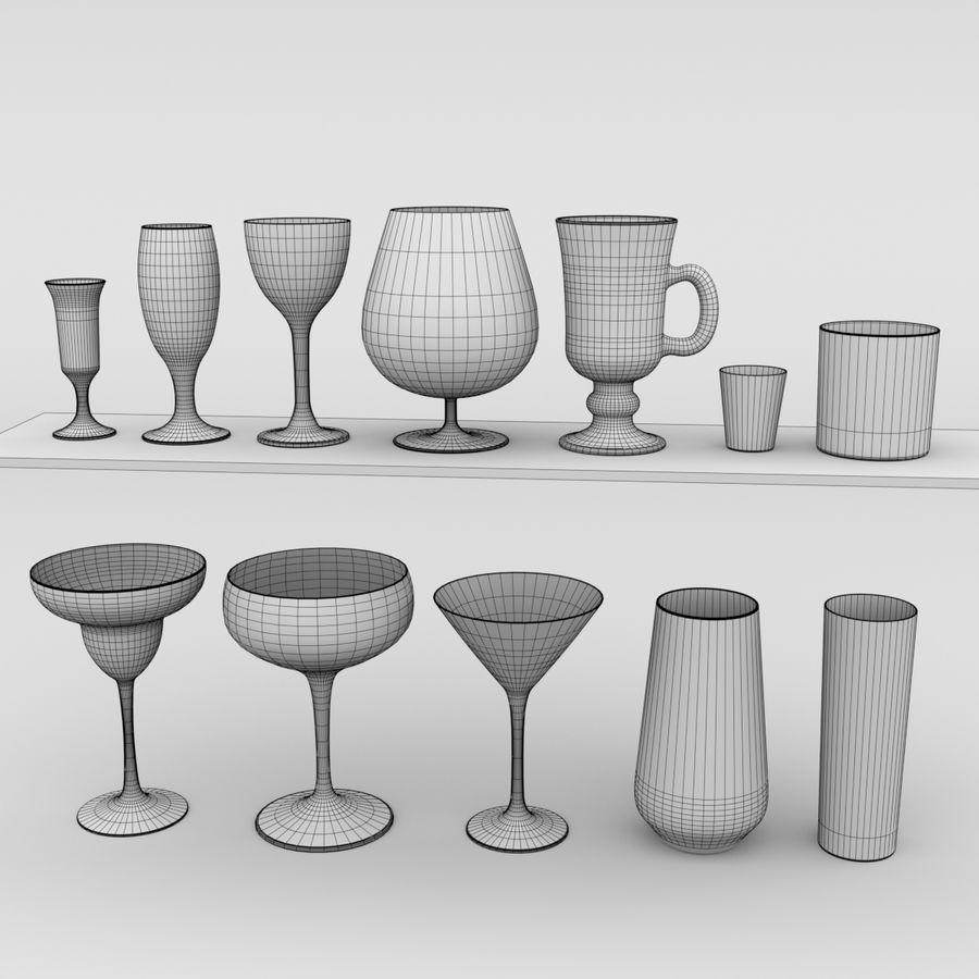 İçki bardağı seti royalty-free 3d model - Preview no. 4