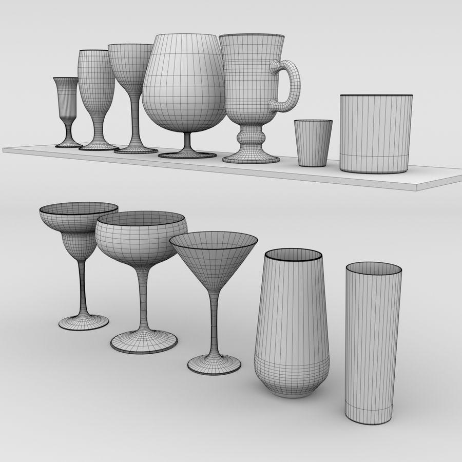 İçki bardağı seti royalty-free 3d model - Preview no. 5