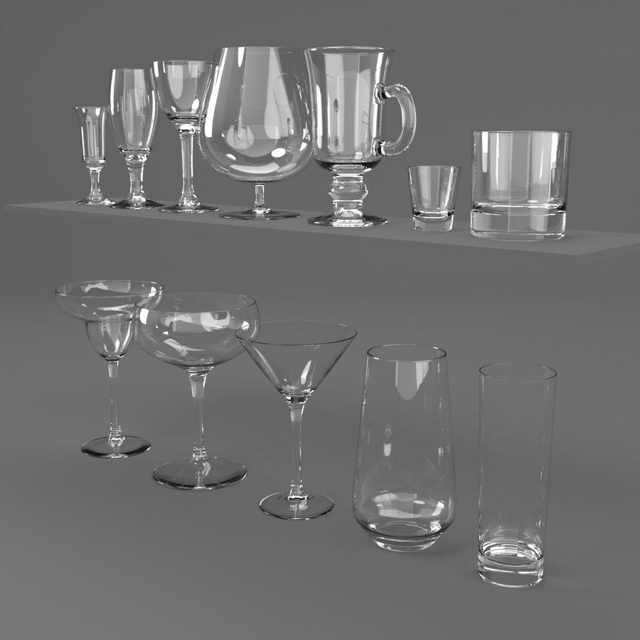 İçki bardağı seti royalty-free 3d model - Preview no. 2