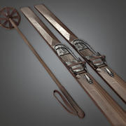 Ski Set (Antiquitäten) - PBR Game Ready 3d model