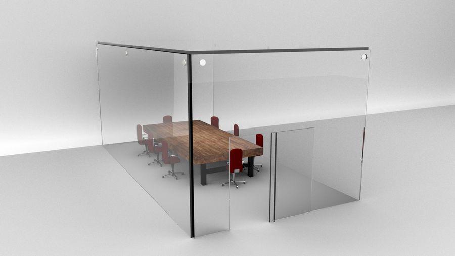 透明玻璃墙会议室 royalty-free 3d model - Preview no. 4