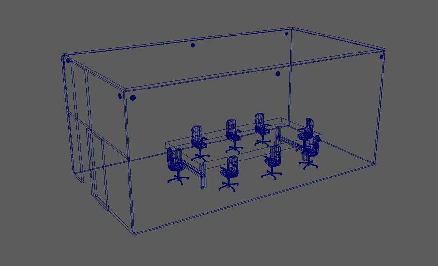 透明玻璃墙会议室 royalty-free 3d model - Preview no. 3