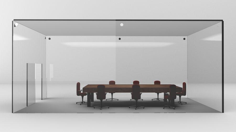 透明玻璃墙会议室 royalty-free 3d model - Preview no. 5