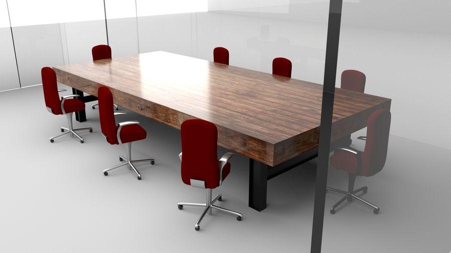 透明玻璃墙会议室 royalty-free 3d model - Preview no. 1