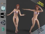 Bikini Girl Clothes Package 3d model