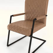 Skórzany fotel 3d model