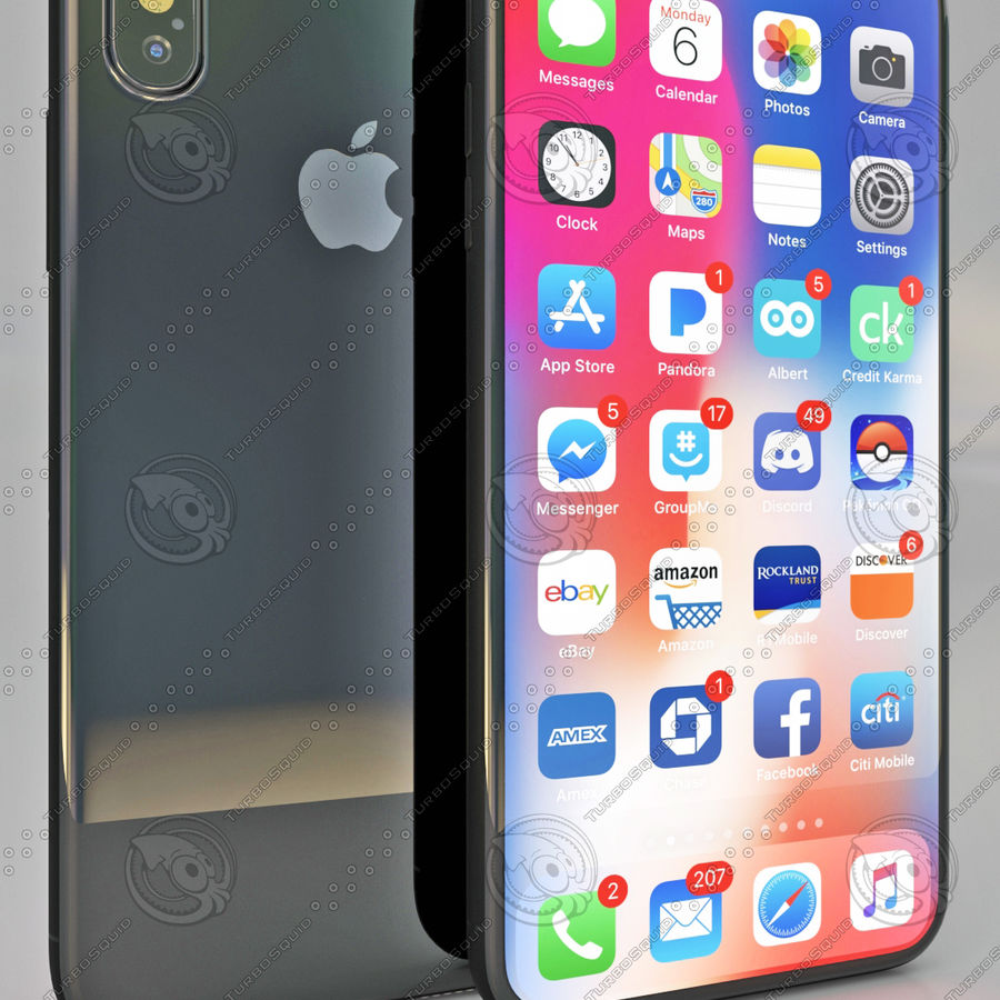 iPhoneX royalty-free 3d model - Preview no. 2