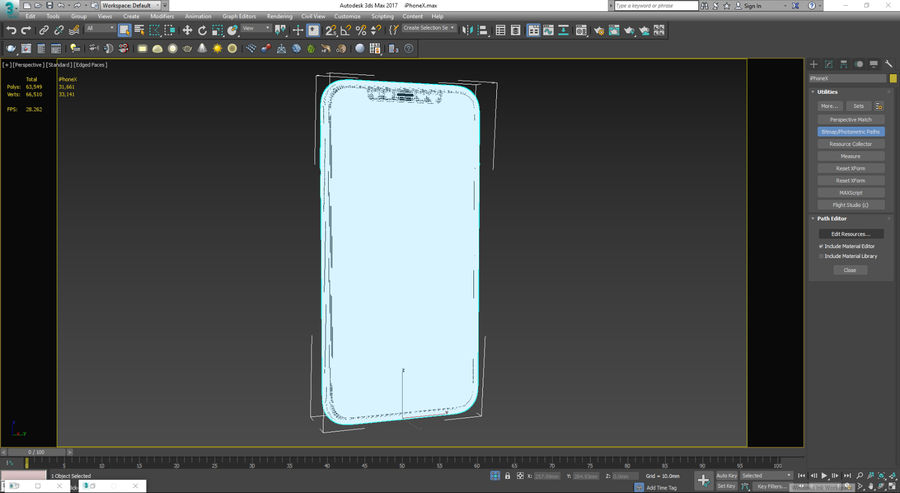 iPhoneX royalty-free 3d model - Preview no. 6