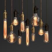 Conjunto de lámpara vintage Edison modelo 3d