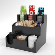 Bar Holder Organizer Paper Cup Dispenser Acrylic 3d model