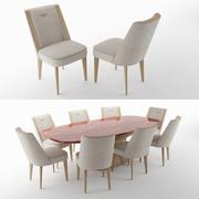 HOME Stamford Stuhl und Alston Tisch 3d model