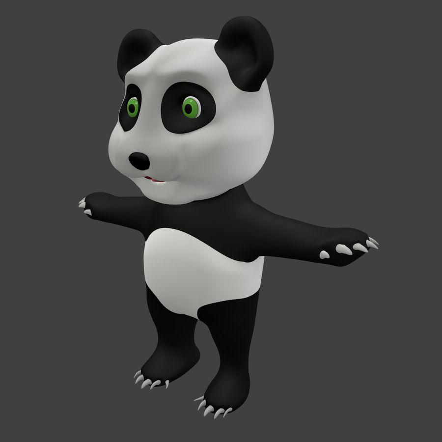 Urso panda bonito royalty-free 3d model - Preview no. 2