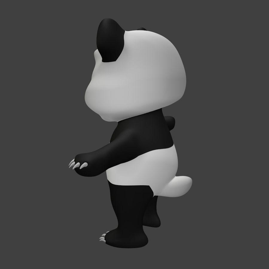 Urso panda bonito royalty-free 3d model - Preview no. 4