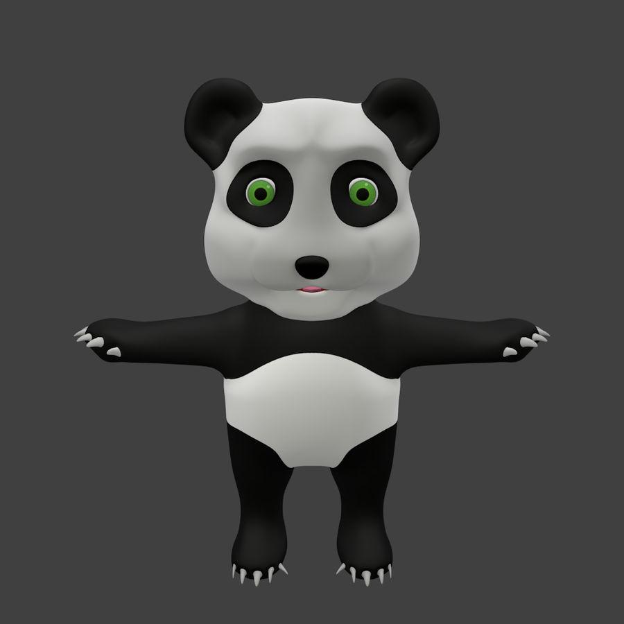 Urso panda bonito royalty-free 3d model - Preview no. 1