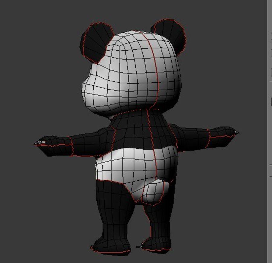 Urso panda bonito royalty-free 3d model - Preview no. 7