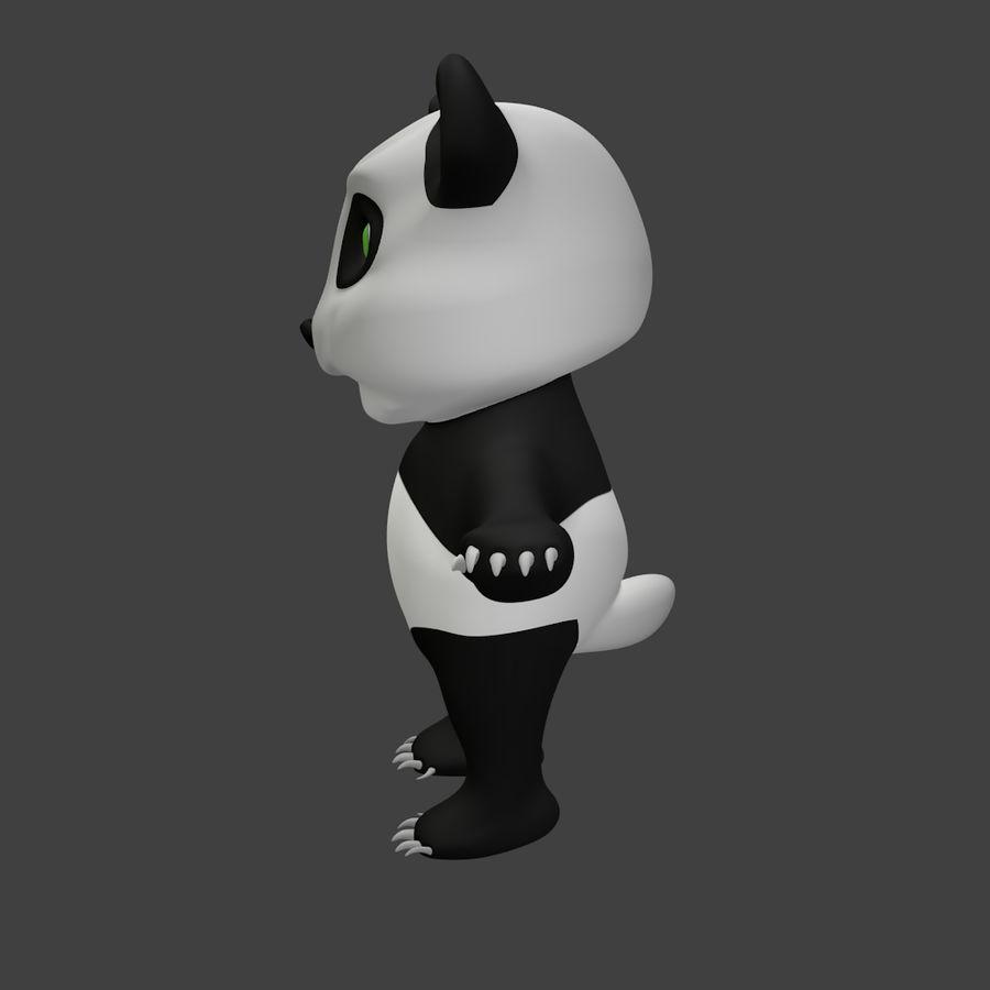 Urso panda bonito royalty-free 3d model - Preview no. 3