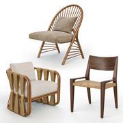 Krzesła rattanowe i wiklinowe I 3d model