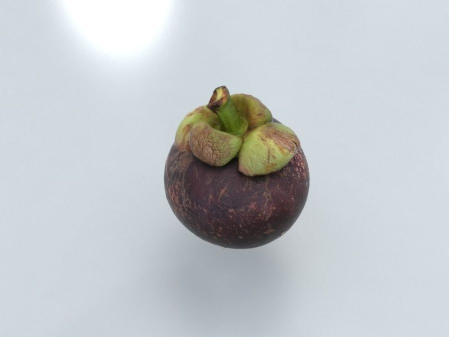 Mangostan royalty-free 3d model - Preview no. 1