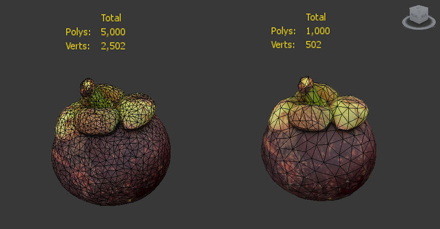 Mangostan royalty-free 3d model - Preview no. 7