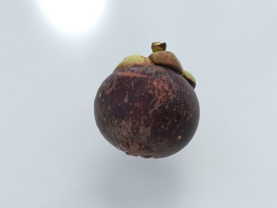 Mangostan royalty-free 3d model - Preview no. 5