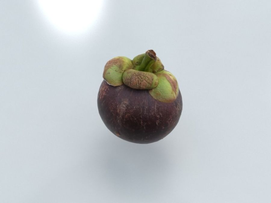Mangostan royalty-free 3d model - Preview no. 3