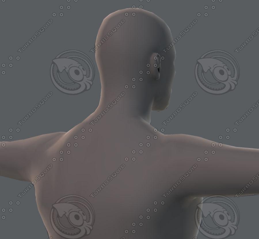 Base mesh man character royalty-free 3d model - Preview no. 55