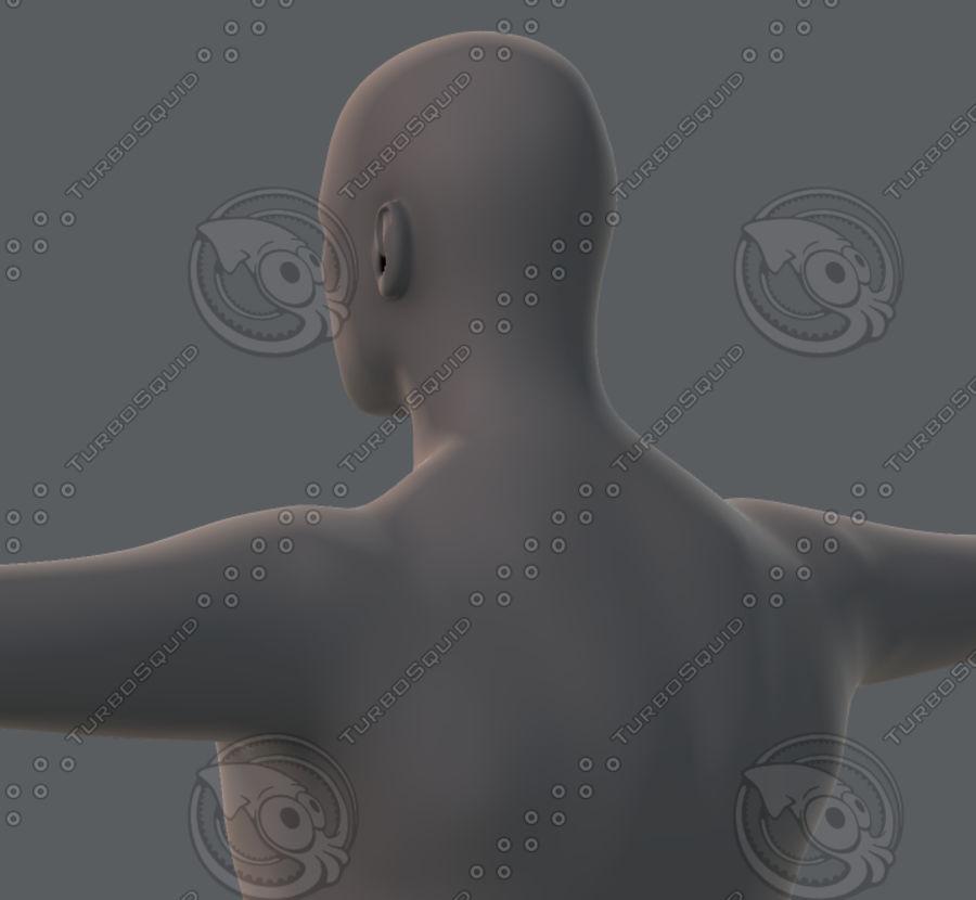 Base mesh man character royalty-free 3d model - Preview no. 41