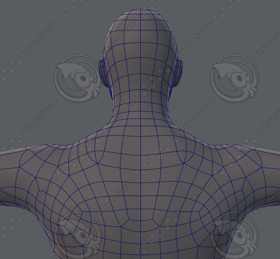 Base mesh man character royalty-free 3d model - Preview no. 48