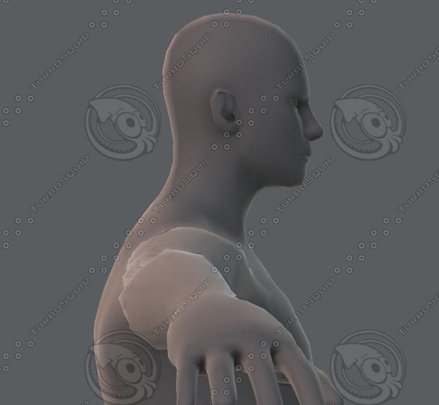 Base mesh man character royalty-free 3d model - Preview no. 54