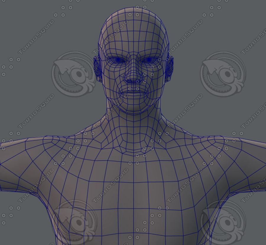 Base mesh man character royalty-free 3d model - Preview no. 60