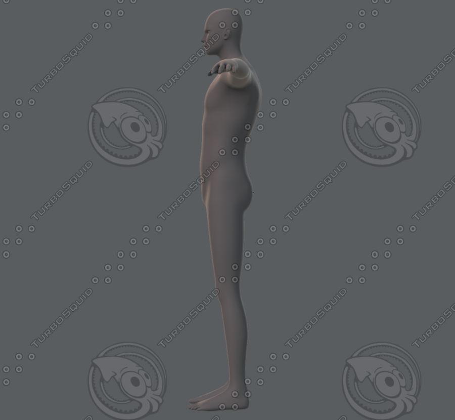 Base mesh man character royalty-free 3d model - Preview no. 10