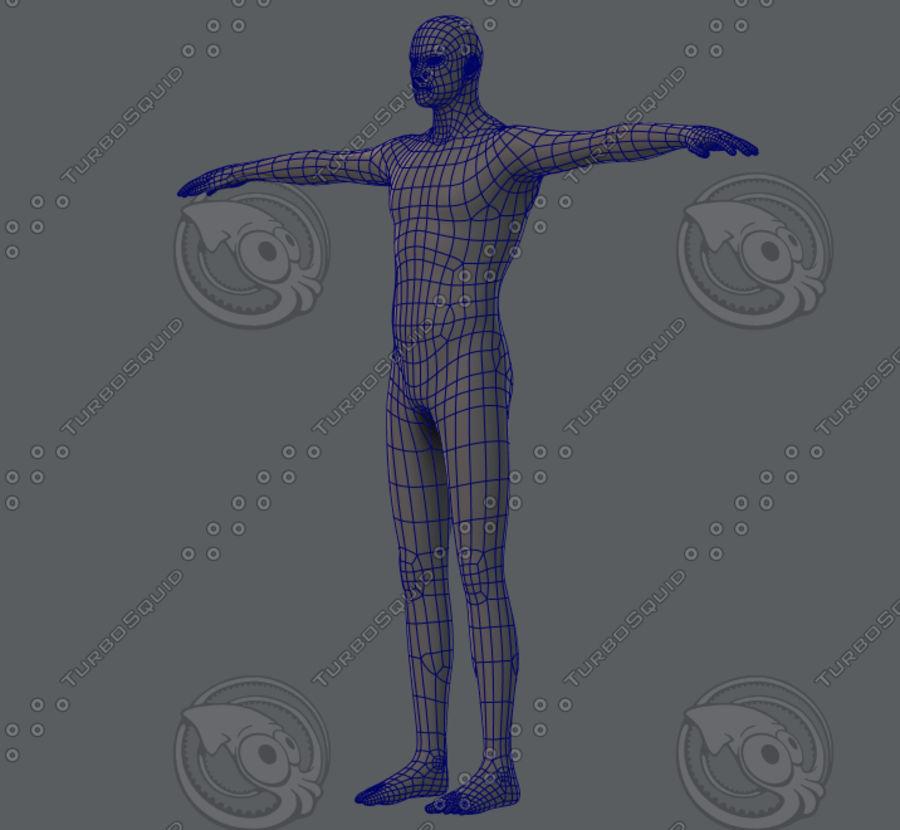 Base mesh man character royalty-free 3d model - Preview no. 19