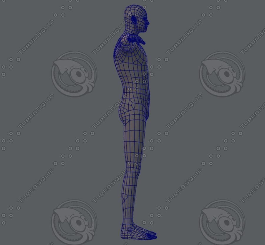 Base mesh man character royalty-free 3d model - Preview no. 14