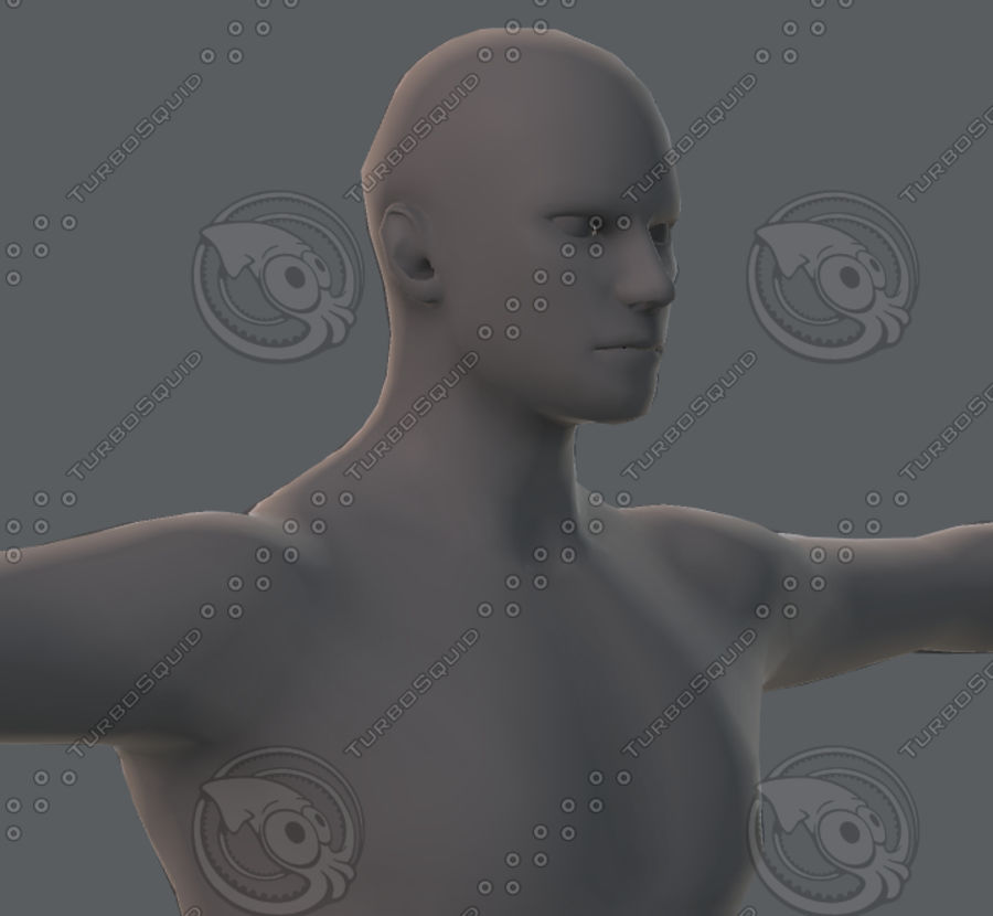 Base mesh man character royalty-free 3d model - Preview no. 53
