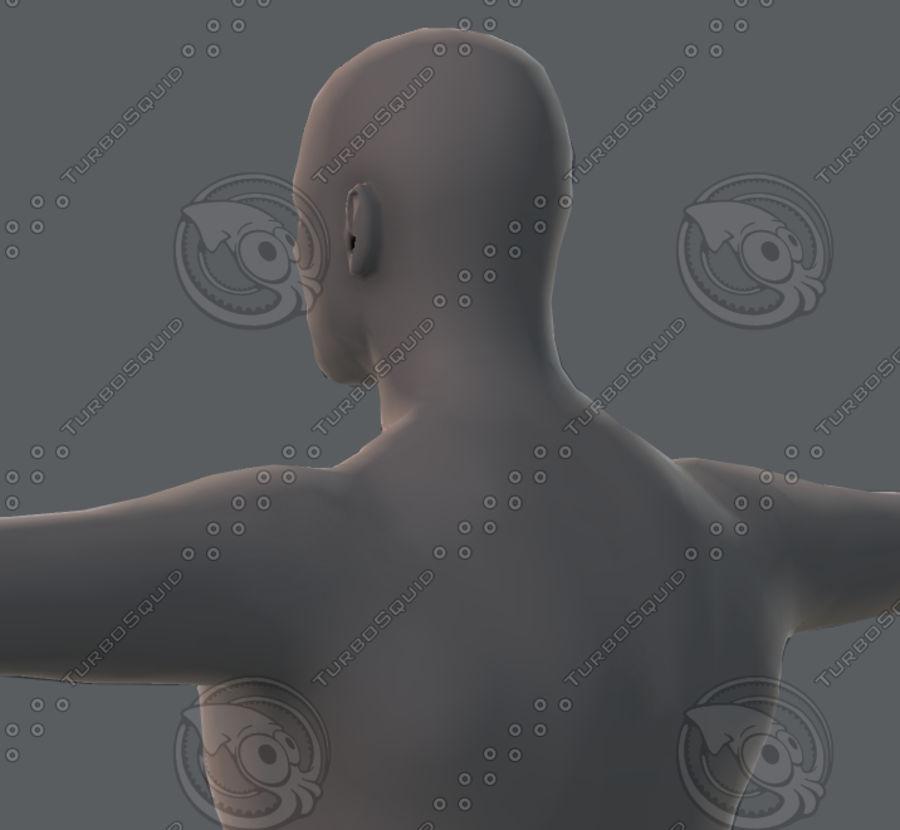 Base mesh man character royalty-free 3d model - Preview no. 57