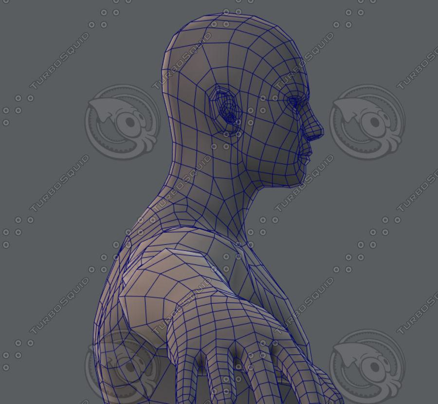 Base mesh man character royalty-free 3d model - Preview no. 62