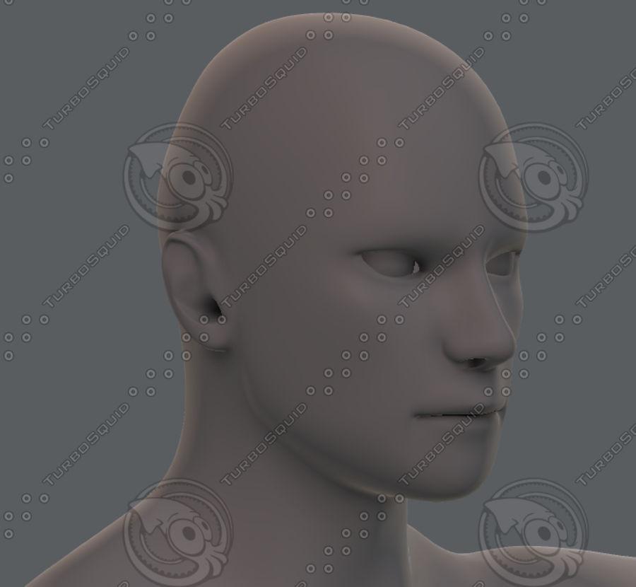 Base mesh man character royalty-free 3d model - Preview no. 68