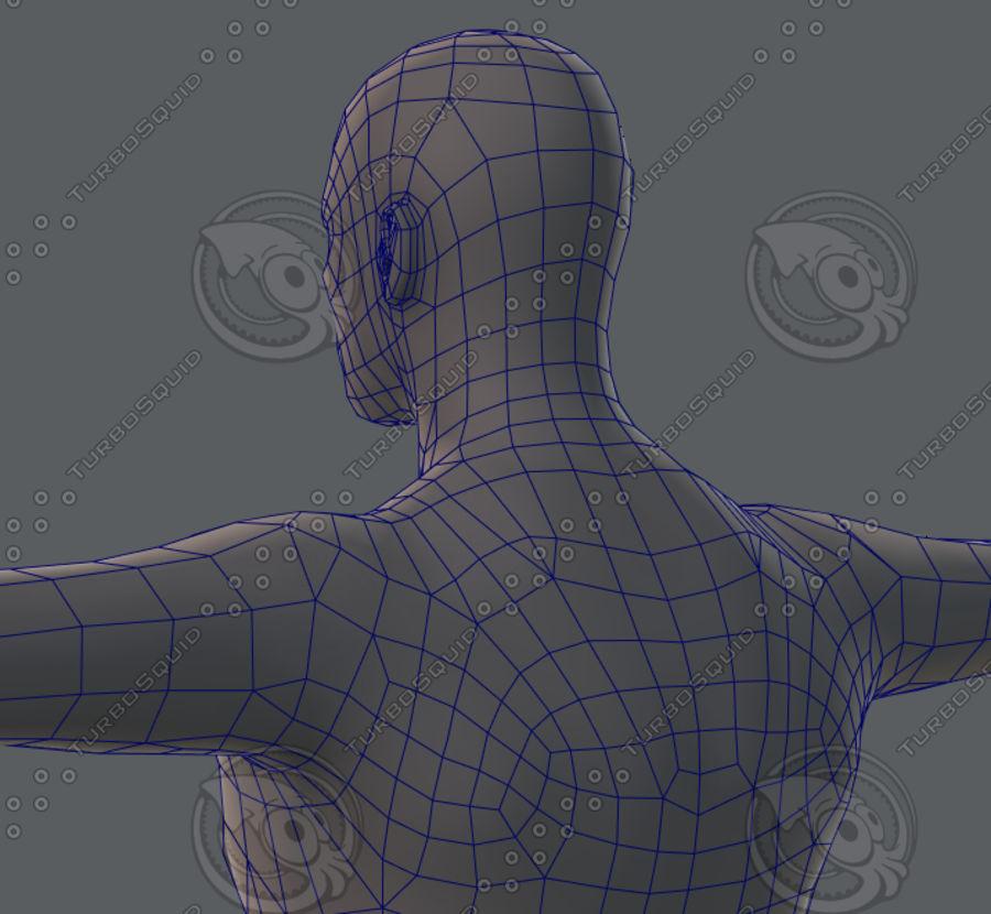 Base mesh man character royalty-free 3d model - Preview no. 65