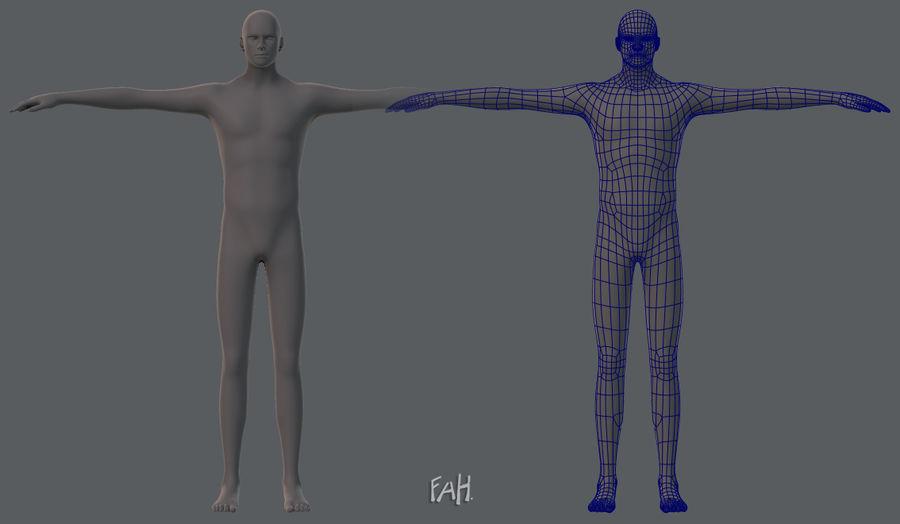 Base mesh man character royalty-free 3d model - Preview no. 1