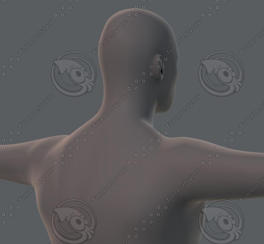Base mesh man character royalty-free 3d model - Preview no. 39