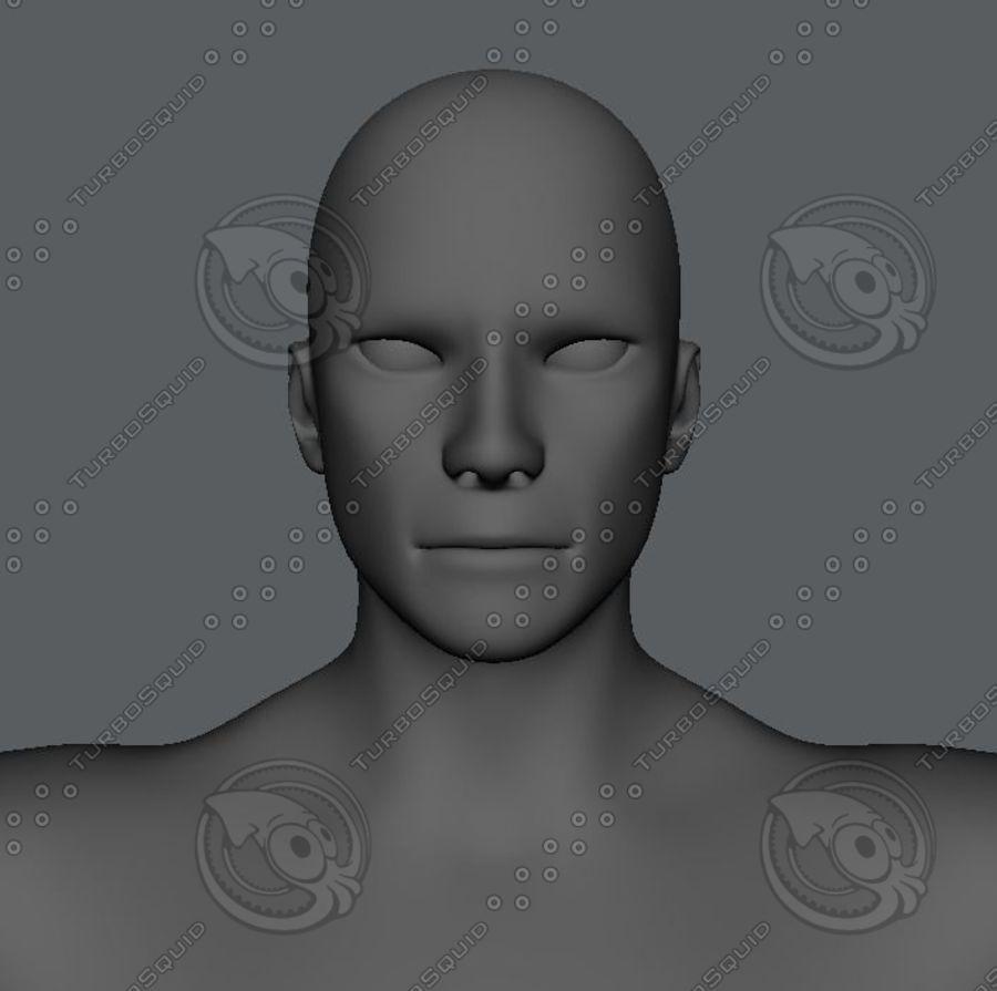 Base mesh man character royalty-free 3d model - Preview no. 4