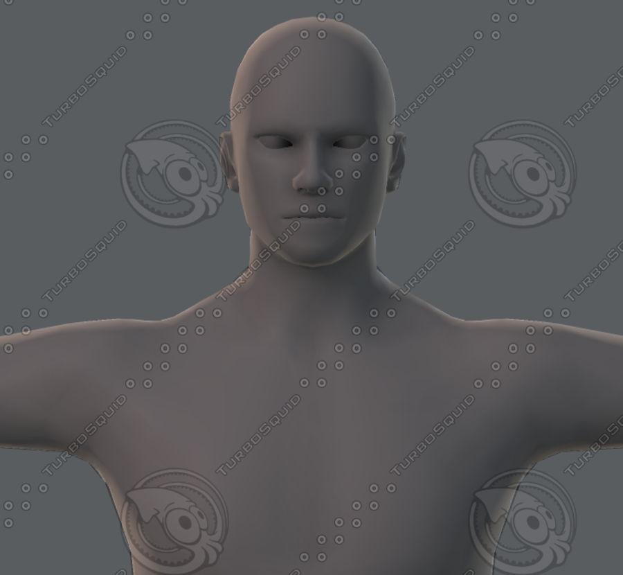 Base mesh man character royalty-free 3d model - Preview no. 52