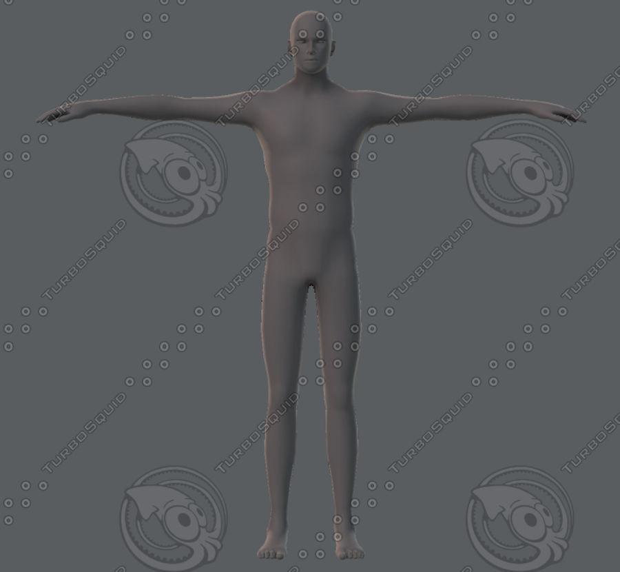 Base mesh man character royalty-free 3d model - Preview no. 20
