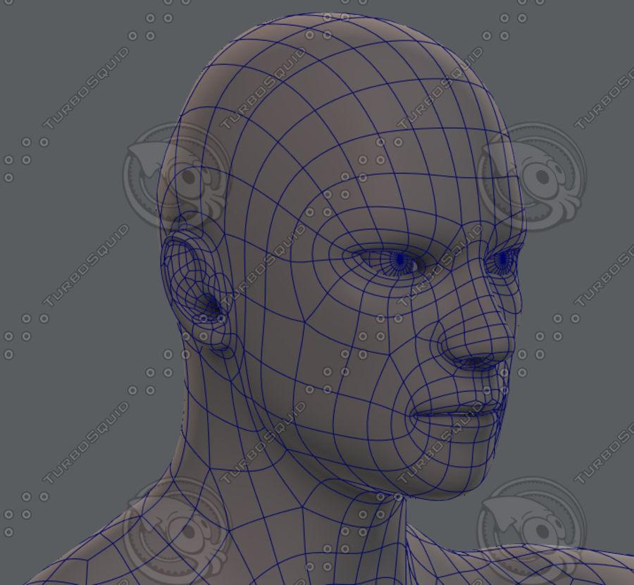 Base mesh man character royalty-free 3d model - Preview no. 69