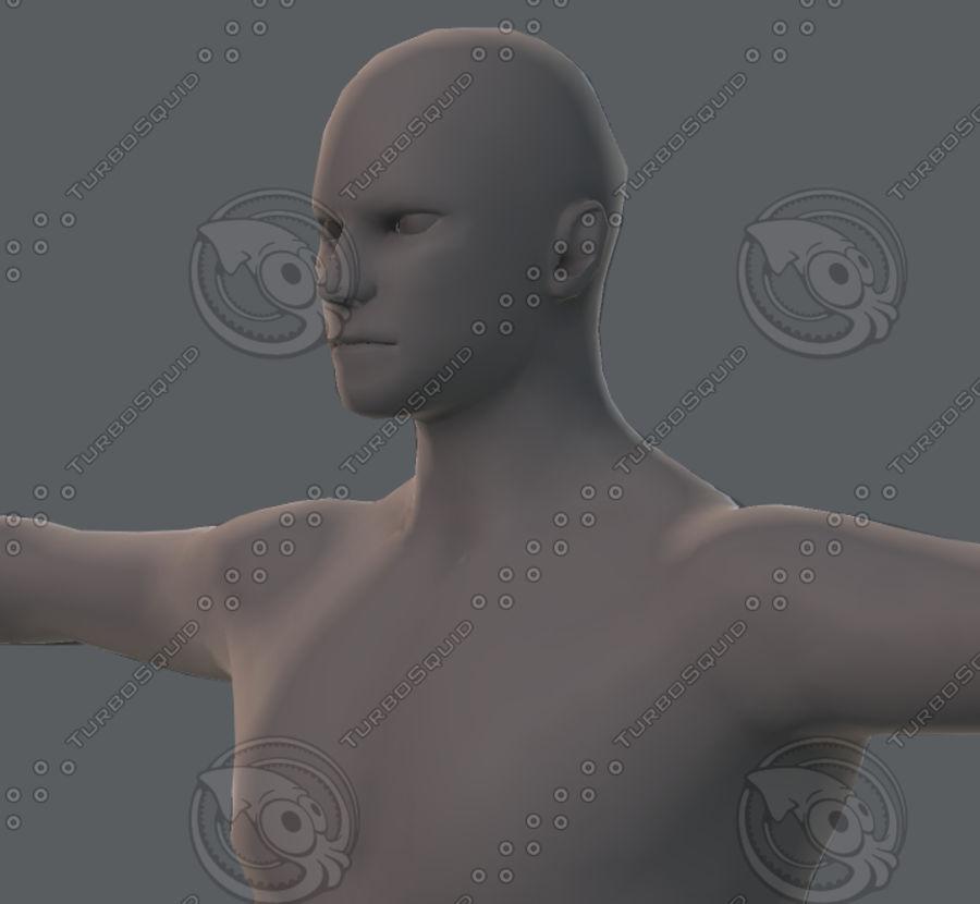 Base mesh man character royalty-free 3d model - Preview no. 59