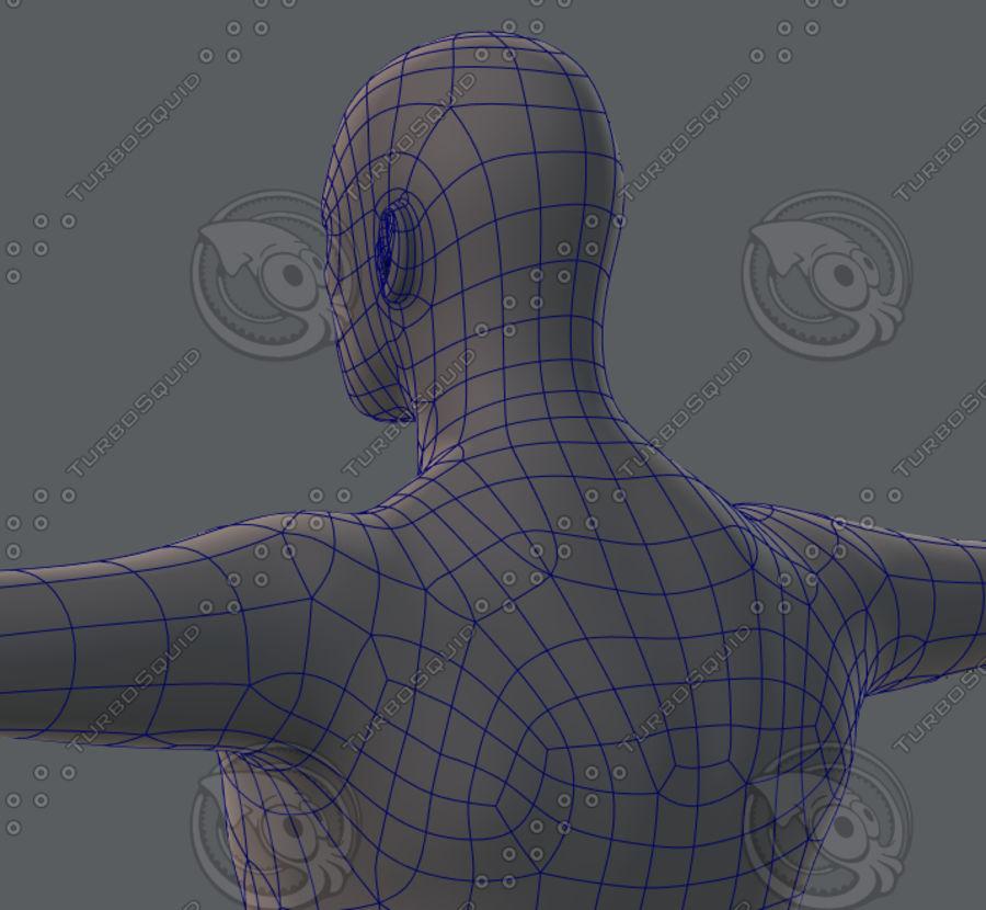 Base mesh man character royalty-free 3d model - Preview no. 49